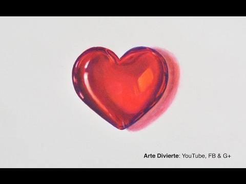 Cómo dibujar un corazón de cristal - 3D