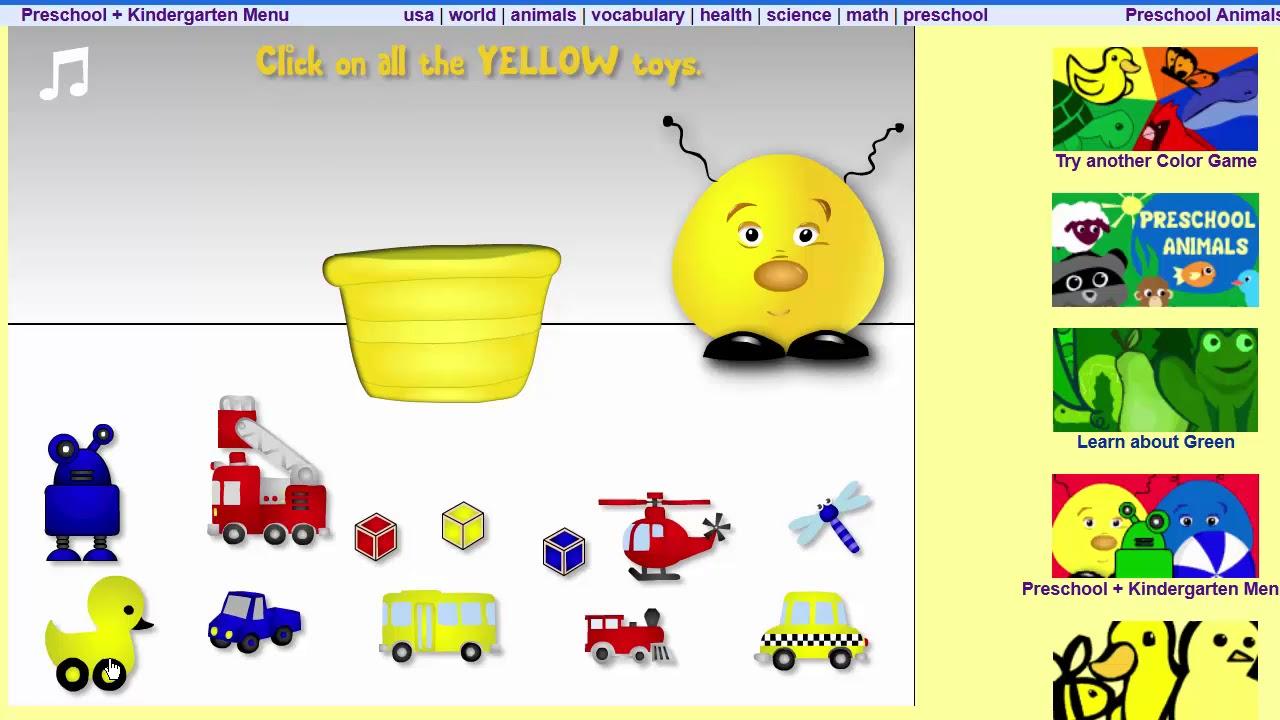 Learning colors - Preschool & Kindergarten Game - YouTube