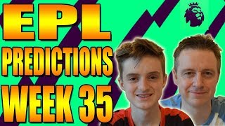 Epl week 35 premier league football score and result predictions 2017/18