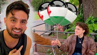 🇵🇸🇩🇪 ردة فعل الشارع الالماني على انتصار فلسطين