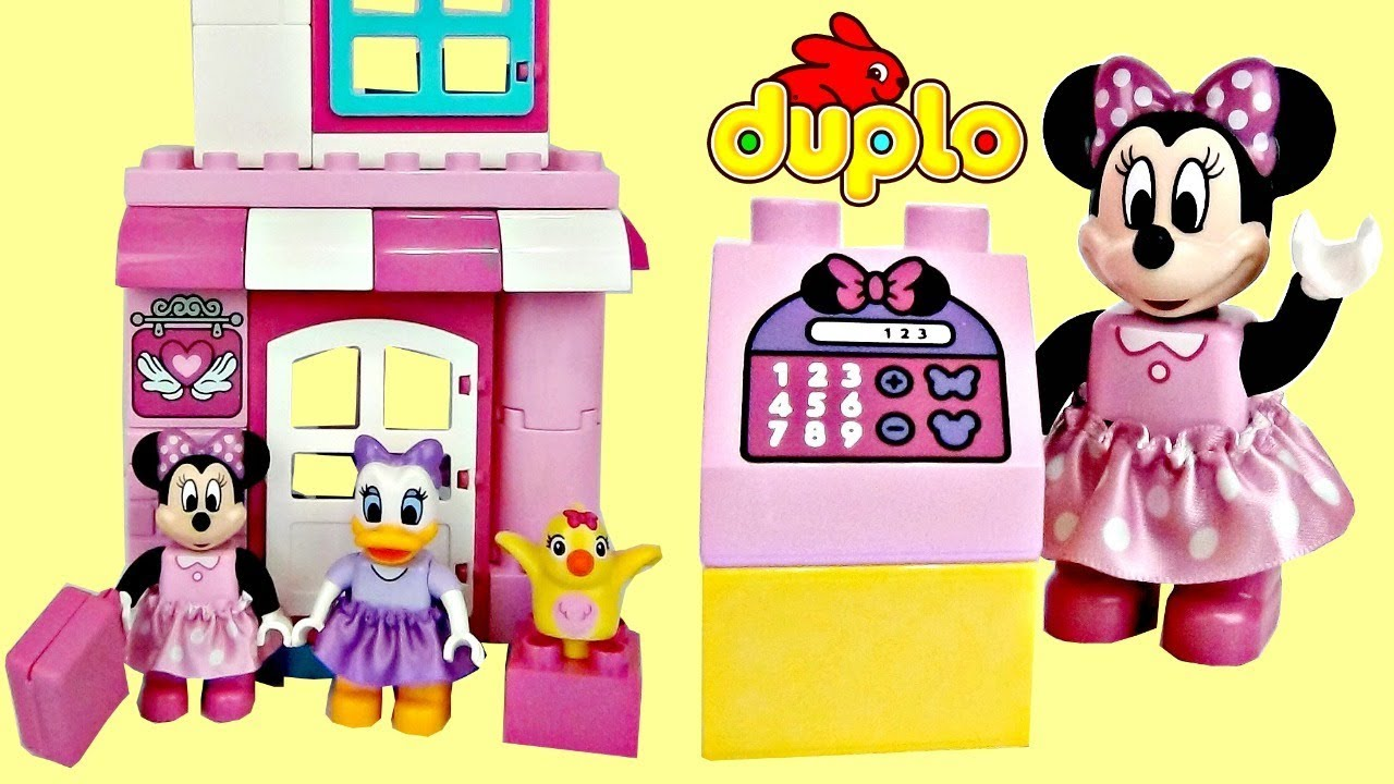 Lego Duplo Minnie Mouse Daisy Duck Bow Tique Building Set Youtube