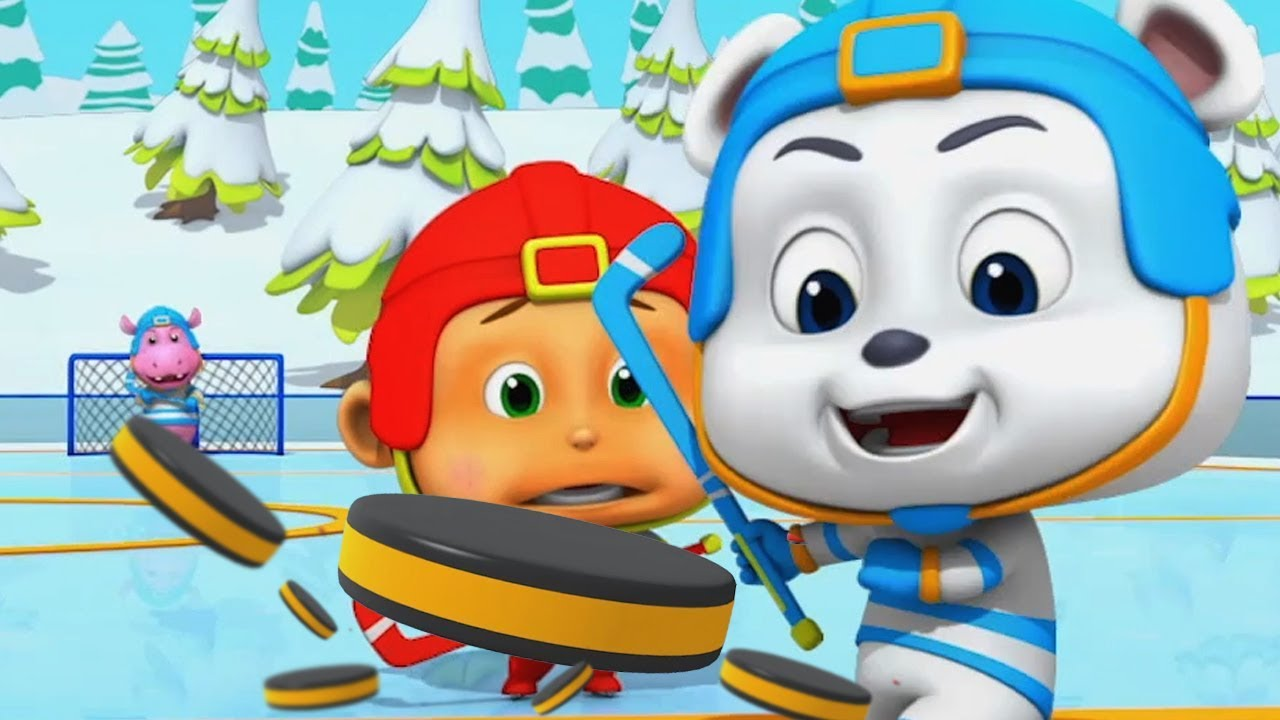 Ice Hockey Funny Cartoons For Kids ஐஸ ஹ க க Animals Videos For Babies Loco Nuts Cartoon Youtube