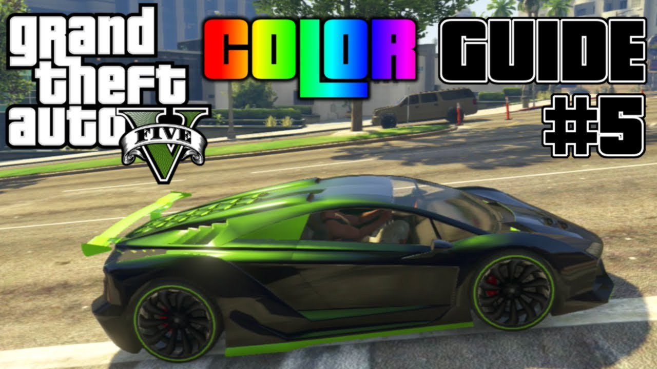 Gta V  Ultimate Color Guide #5  Best Colorsbos For Zentorno