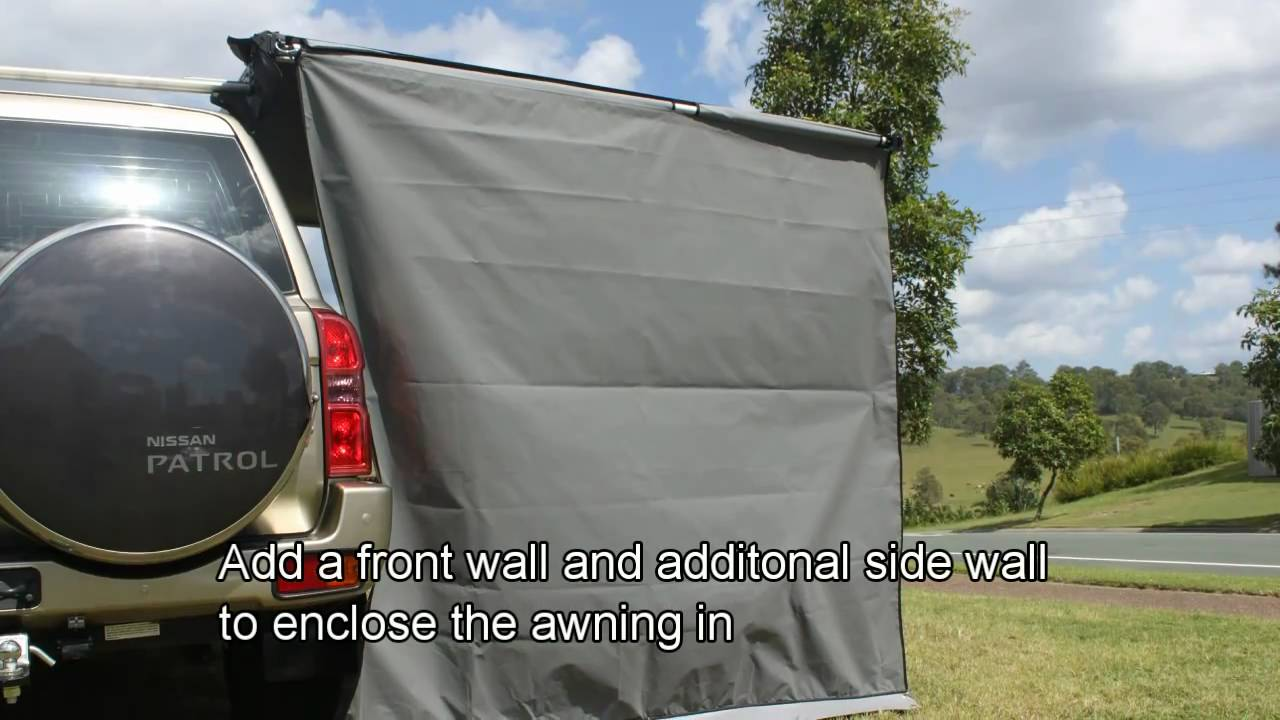 Stand Easy Awning Side Wall Demonstration By Supa Peg