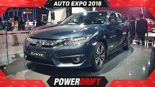 2018 Honda Civic @ Auto Expo 2018 : PowerDrift