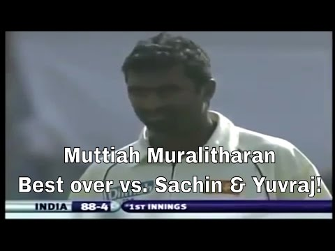 Muttiah Muralitharan best Over against Sachin Tendulkar and Yuvraj Singh