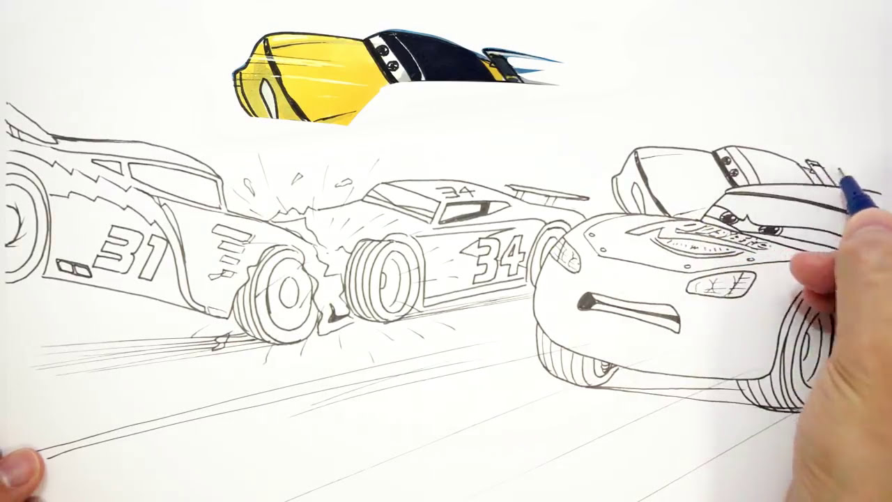 How To Draw Cars 3 Next Gen Crash 2 Of 2 Easy Step By Step Art