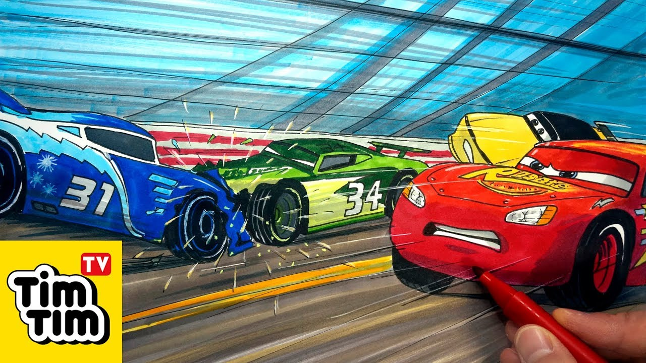 How To Draw Cars 3 Next Gen Crash 2 Of 2 Easy Step By