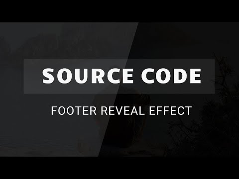 Footer Reveal Effect Using Html Css ( Source Code )
