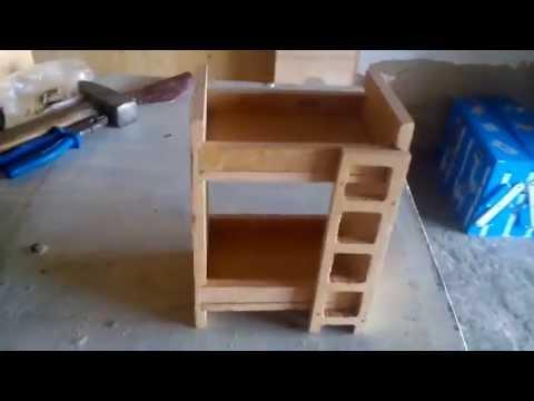 Двухэтажная игрушечная кроватка из фанеры своими руками