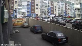 Молодежь разбивает  авто во дворе  ,  петрозаводск