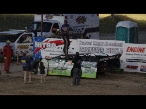 Late Model Feature Time at Crystal Motor Speedway on 07-09-16.