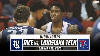 Rice vs. Louisiana Tech Basketball Highlights (2019-20) | Stadium