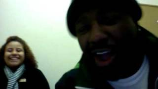 Phonte and Carlitta Durand clownin