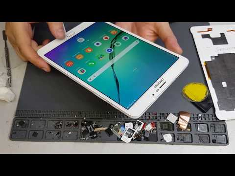 Samsung Galaxy Tab S2 8.0 T719 разборка и замена батареи аккумулятора Replace Battery