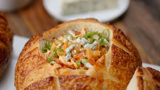 Hearty Buffalo Chicken Soup With Blue Cheese And Scallions • Tasty