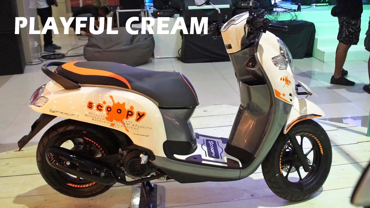92 Modifikasi Motor Scoopy Warna Cream Terbaik Kumbara Modif