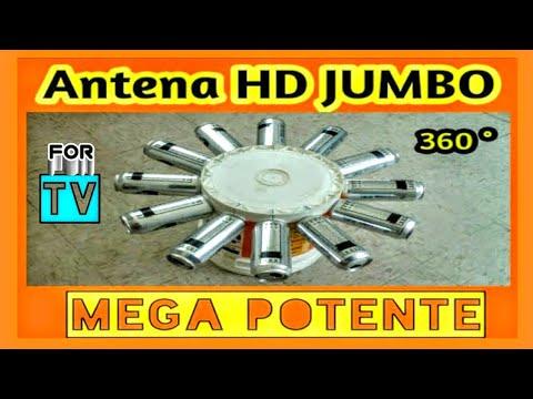 Antena HDTV JUMBO MEGA POTENTE 🏠 The Most Powerful of all Homemade Antennas