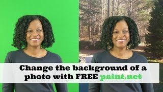 2016 - How to Change the Background of a Photo with Paint.net