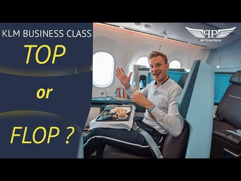 BUSINESS CLASS TOPS AND FLOPS | KLM FROM AMSTERDAM TO RIO