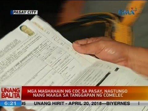 Mga maghahain ng COC sa Pasay, nagtungo nang maaga sa tanggapan ng Comelec