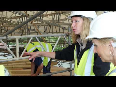 Hinton Ampner: Repairing the roof