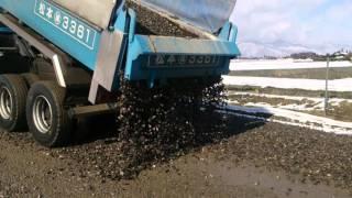 DumpTruck a working car trick ISUZU GIGA Unloading technique 大型ダンプ 荷降ろし 技 イスズ ギガ ダンプ はたらく車
