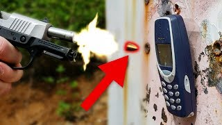 Indestructible Nokia 3310 vs Bullet - Secretly Bulletproof?! WTF?
