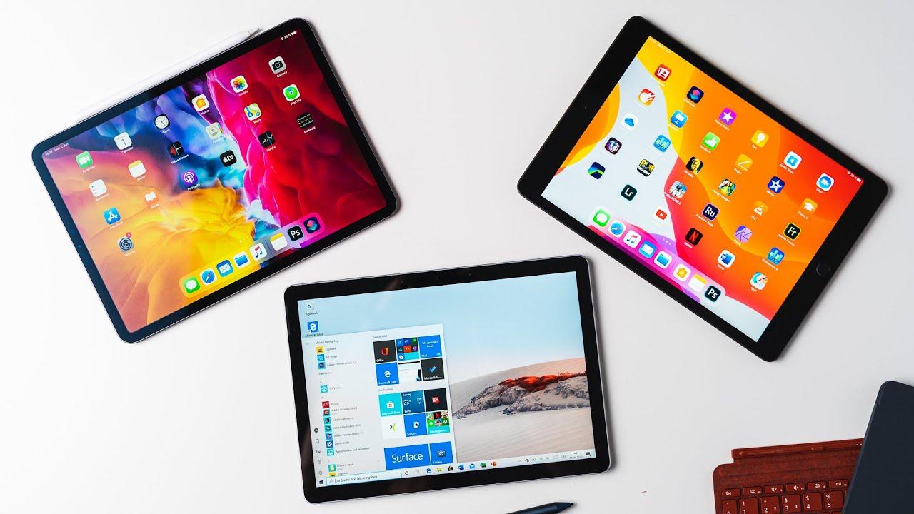 Comparison: Microsoft Surface Go 2 VS iPad 7 & iPad Pro