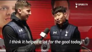 Kevin Wimmer funny interview with Son Tottenham Hotspurs
