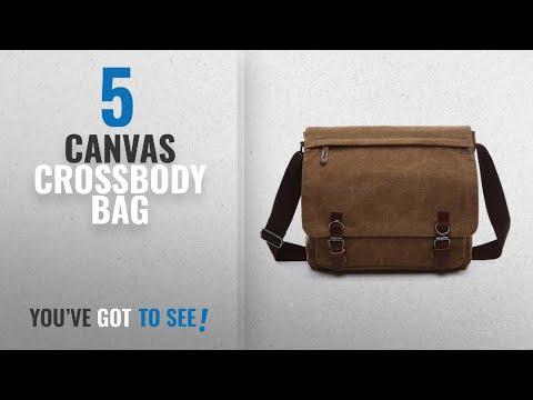 Top 10 Canvas Crossbody Bag [2018]: Aizbo Men's Shoulder Messenger Bag Canvas Crossbody Work / Day