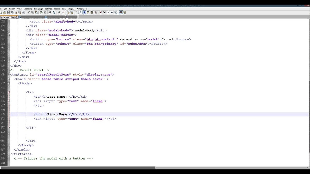 Bootstrap Modal Dialog Example in PHP
