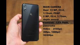 MOTOROLA ONE (P30 Play) MOBILE LOOK, CAMERA & PRICE SPECIFICATION