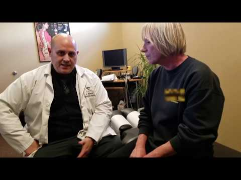 Painless Chiropractic Adjustment for Low Back Pain.  Quick treatment.