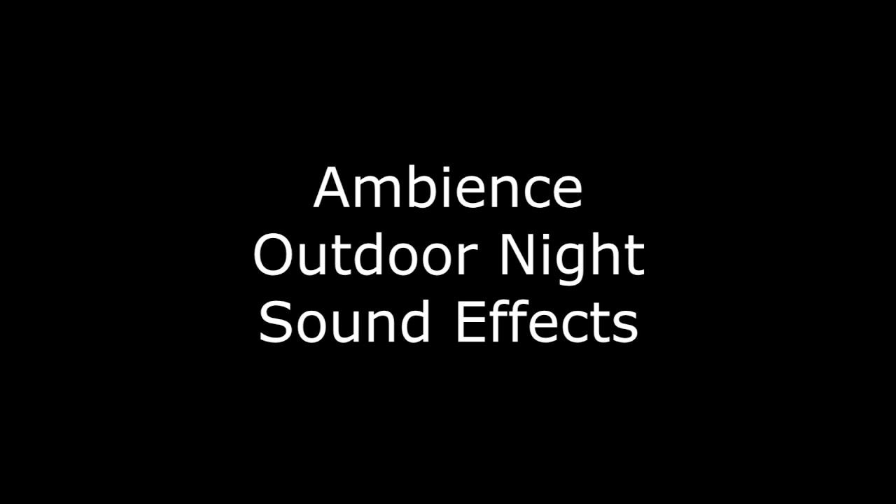 Ambience Outdoor Night Sound Effects