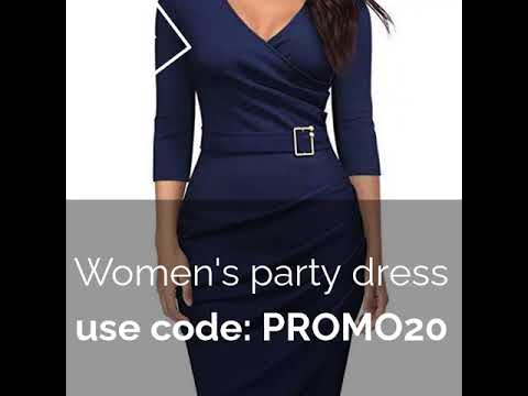 #WOMEN'S PARTY DRESS SOLID