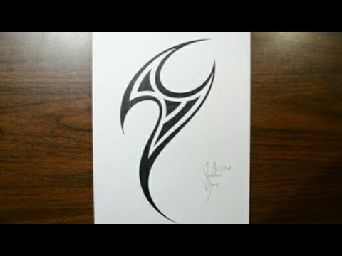 Drawing simple tattoo designs with pen