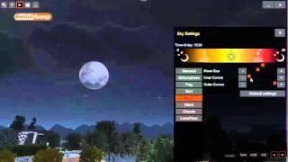 OneRay-RT: Impostare Luna e Stelle