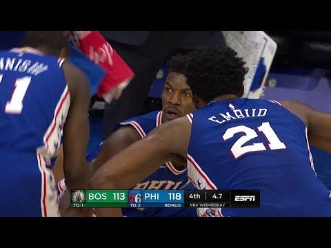 Jimmy Butler NASTY Clutch Shot Over Kyrie Irving | Celtics vs 76ers - March 20, 2019