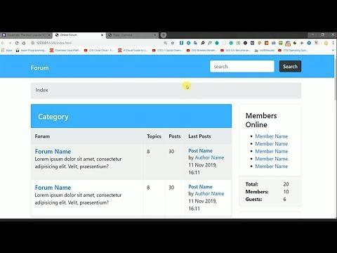 Create Forum in Bootstrap 4 | Bootstrap Tutorial | How to create forum | How to design Forum