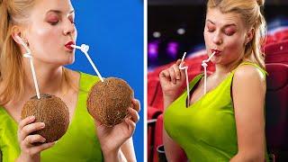Как пронести еду в кинотеатр / Смешные трюки с едой