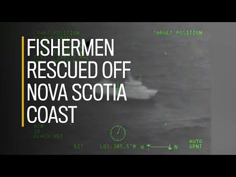 Dramatic video shows rescue of fishermen off Nova Scotia coast