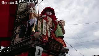 三国祭で山車(やま)巡行 福井・坂井