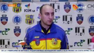 INTERVIU PT. TV ARAD CU ANTRENORUL PRINCIPAL ICIM Bogdan Bulj