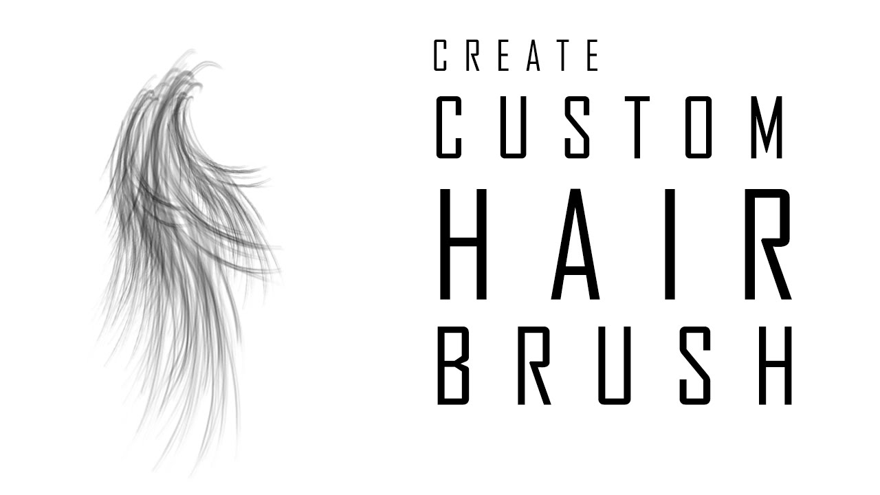 How To Create Hair Brush In Photoshop Part1 Youtube