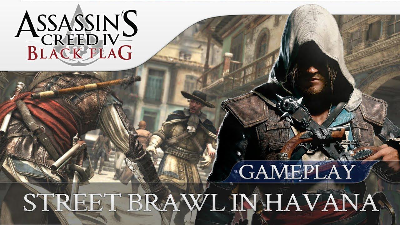 Assassins Creed 4 Black Flag | Street Brawl In Havana - Combat Gameplay  (Xbox360 | 1080p HD)