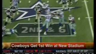 Cowboys Get 1st Win At New Stadium