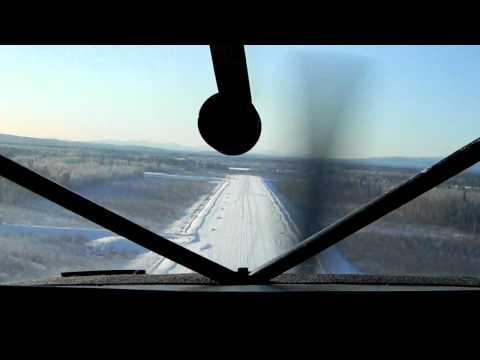 Landing at Stevens Village, Alaska