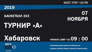 Баскетбол 3х3. Лига Про. Турнир А. 7 ноября 2019 г.