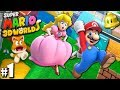 Super Mario 3D World: 2P Co-Op! - Cats & Crowns PART 1 (Nintendo Wii U HD Gameplay Walkthrough)